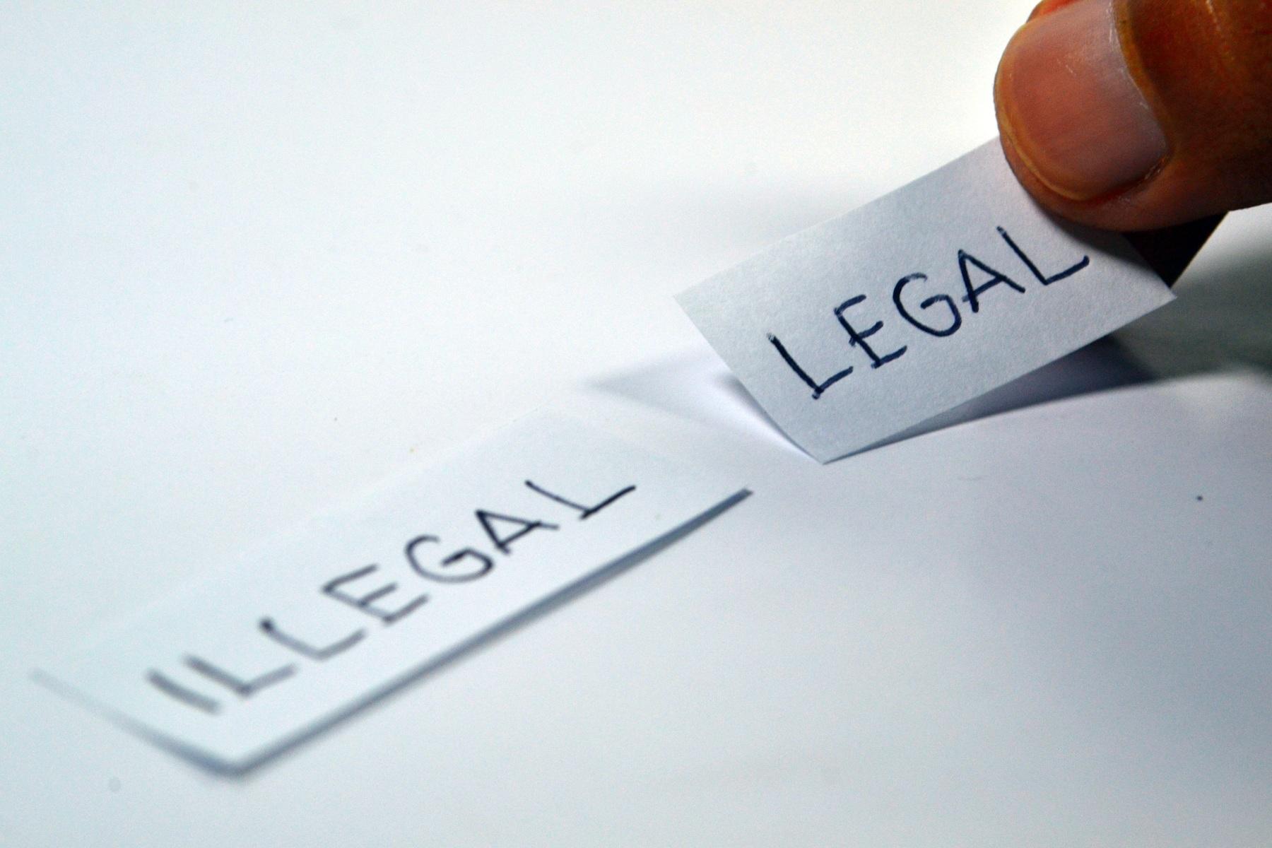 Imagem sobre a duvida da legalidade e ilegalidade